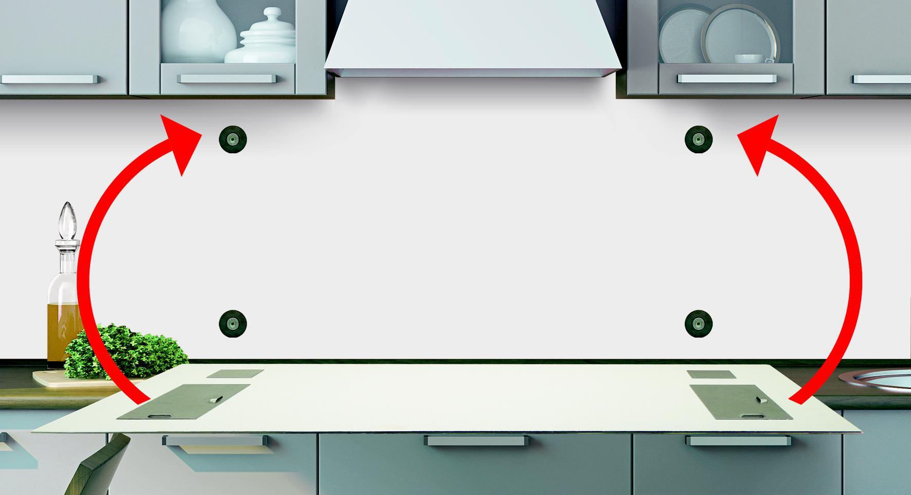 Küche Holz Mit Glas Spritzschutz – sehremini