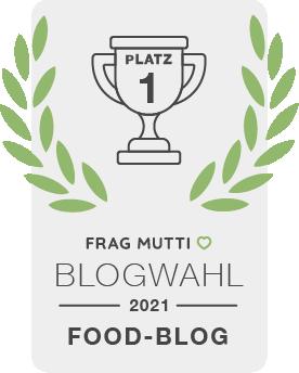 Siegel Food-Blog der Frag Mutti Blogwahl 2021!